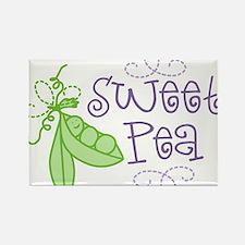 Sweet Pea Rectangle Magnet