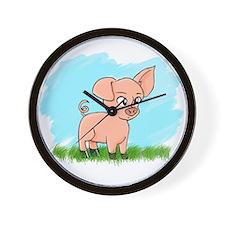 Little Piggy pig pig Wall Clock