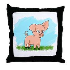 Little Piggy pig pig Throw Pillow