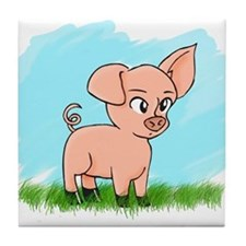 Little Piggy pig pig Tile Coaster