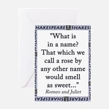 What Is In a Name Greeting Card