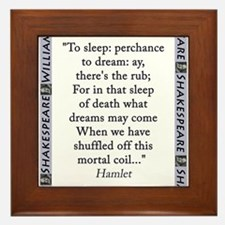 To Sleep: Perchance to Dream Framed Tile