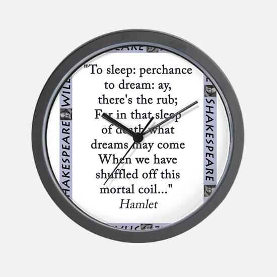 To Sleep: Perchance to Dream Wall Clock