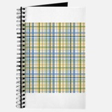 Blue Green Yellow Plaid Print Journal