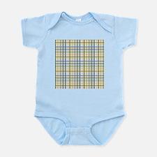 Blue Green Yellow Plaid Print Infant Bodysuit