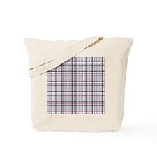 Patriotic Plaid Print Tote Bag