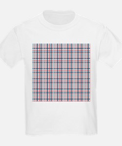 Patriotic Plaid Print T-Shirt