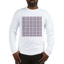 Patriotic Plaid Print Long Sleeve T-Shirt
