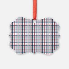 Patriotic Plaid Print Ornament