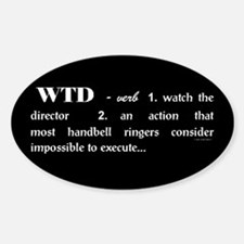 Watch the Director Black Oval Decal