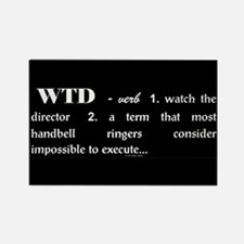 Watch the Director Black Rectangle Magnet