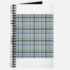 Blue Green Plaid Print Journal
