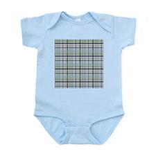 Blue Green Plaid Print Infant Bodysuit