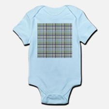 Blue Green Plaid Print Infant Bodysuit