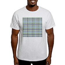 Blue Green Plaid Print T-Shirt