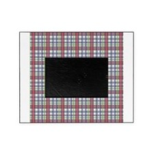 Red Purple Green Plaid Print Picture Frame