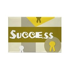 Success Rectangle Magnet