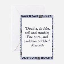 Double, Double, Toil and Trouble Greeting Card