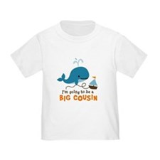 Big Cousin to be - Mod Whale T-Shirt