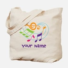 Personalized Music Swirl Tote Bag