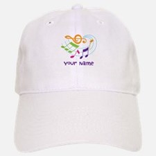 Personalized Music Swirl Baseball Baseball Cap
