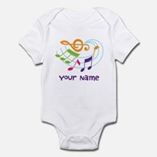 Personalized Music Swirl Infant Bodysuit