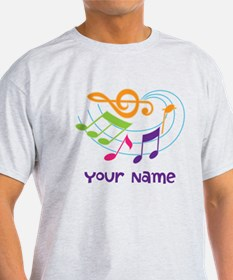 Personalized Music Swirl T-Shirt