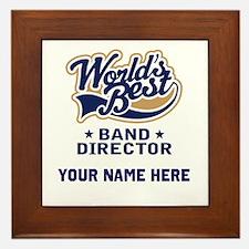 Band Director Framed Music Tile Award Gift