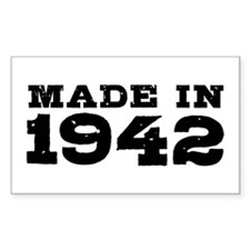 Made in 1942 Decal