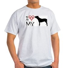 American Staffordshire Terrie Ash Grey T-Shirt
