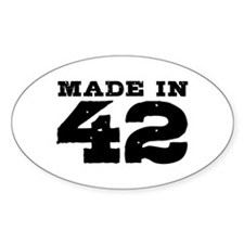 Made in 42 Decal