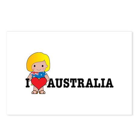 I Love Australia Postcards (Package of 8)