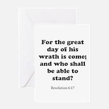 Revelation 6:17 Greeting Card