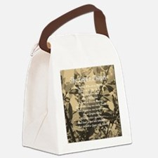 The Lords Prayer Vintage Canvas Lunch Bag