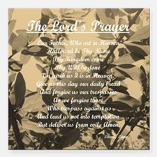 "The Lords Prayer Vintage Square Car Magnet 3"" x 3"""