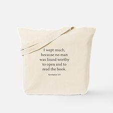 Revelation 5:4 Tote Bag