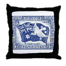 Australia 1945 Peace Postage Stamp Throw Pillow