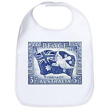 Australia 1945 Peace Postage Stamp Bib