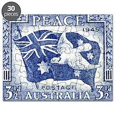 Australia 1945 Peace Postage Stamp Puzzle
