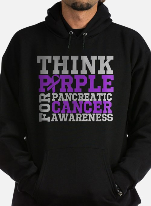 Think Purple Pancreatic Cancer Hoodie