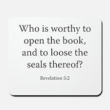 Revelation 5:2 Mousepad