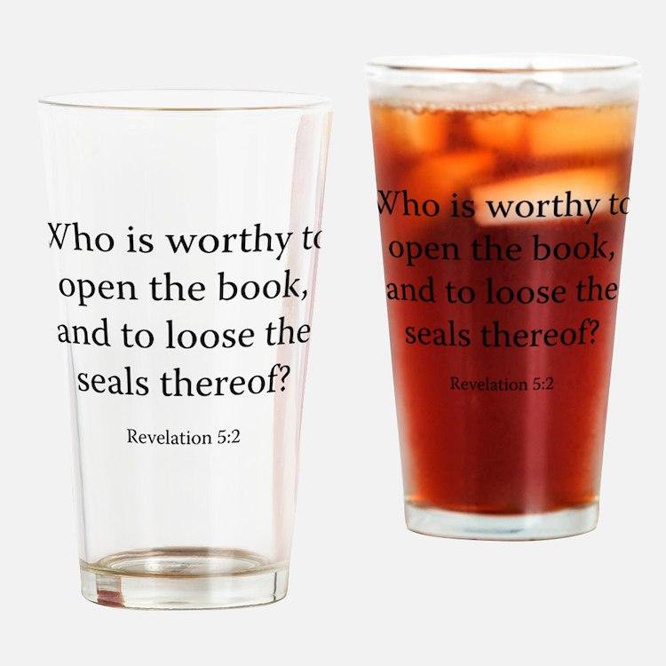 Revelation 5:2 Drinking Glass