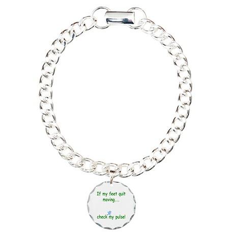 Check My Pulse Charm Bracelet, One Charm