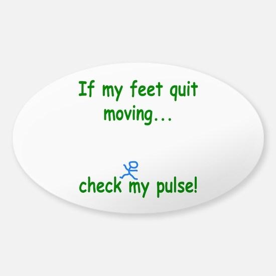 Check My Pulse Sticker (Oval)