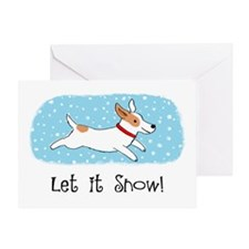 Jack Russell Let it Snow Greeting Card