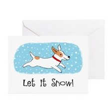 Jack Russell Let it Snow Greeting Cards (Pk of 20)