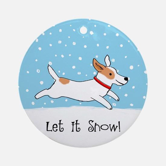 Jack Russell Let it Snow Ornament (Round)