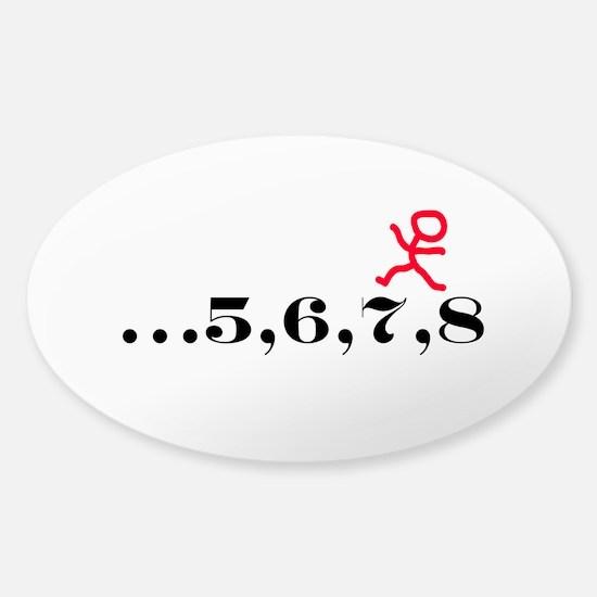 5,6,7,8 Sticker (Oval)