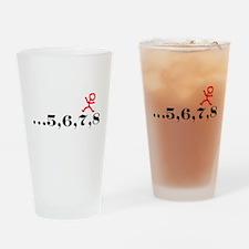 5,6,7,8 Drinking Glass