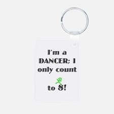 Only Count To 8 Aluminum Photo Keychain